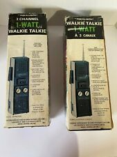 New listing Vintage Set Of 2 Realistic Walkie Talkie 3-Channel Transceiver #21-1630 New