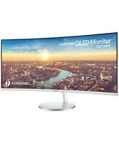 """SAMSUNG C34J791 Quad HD 34"""" Curved LED Monitor - White & Silver - Currys"""