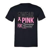 Fight Breast Cancer awareness PINK Ribbon survivor support, Unisex Men T-shirt