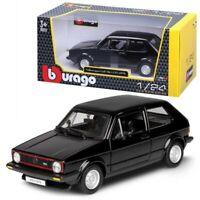 Bburago burago Volkswagen Golf GTi 1979 Black 1/24 Scale  die-cast  Car Model