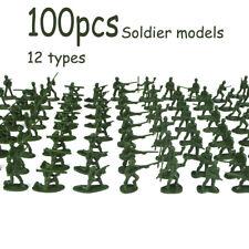 100pcs / set Military Playset Plastic Toy Soldiers Army Men 3.8cm Figures Toys