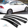 Fits 06-11 Honda Civic Sedan Slim Style Acrylic Window Visors 4Pc Set