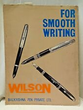 WILSON FOUNTAIN PEN VINTAGE ADVERTISEMENT CARDBOARD SIGN HAND PAINTED CIRCA1969