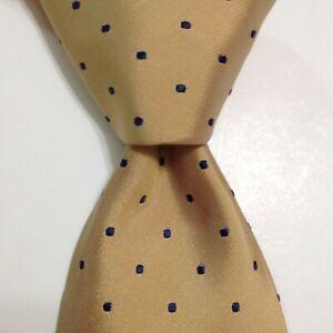 DONALD TRUMP President Signature Collection Silk Necktie POLKA DOT Yellow/Blue