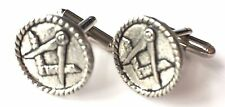 Masonic Crested Hand Made Pewter Cufflinks (N289) Gift Boxed