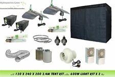 Complete Hydroponic Grow Room Tent Fan Filter 2 x 600 watt Light Kit 120x240x200