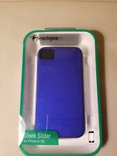 NEW Prodigee Sleek Slider Protective Apple iPhone 4 4s Thin Case Cover - BLUE