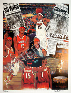 """CARMELLO ANTHONY """" MELO """" 20 x 26 LITHO HAND-SIGNED by ROBERT STEPHEN SIMON"""