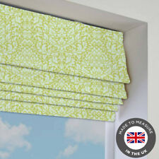 Green Patterned Roman Blind - Blackout - Many Sizes - Made To Measure In The UK