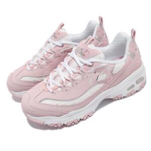 Skechers D Lites-Flower Haze Pink White Women Casual Lifestyle Shoes 149466-LTPK