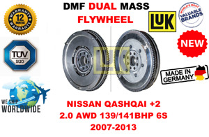 FOR NISSAN QASHQAI +2 2.0 AWD 139/141BHP 6S 2007-2013 NEW DUAL MASS DMF FLYWHEEL