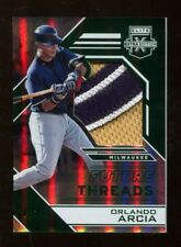 Orlando Arcia 2016 Panini Elite Future Threads Emerald Jersey 7/10 Brewers 41652
