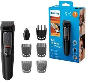 Philips Series 3000 7 in 1 Face Hair Body Beard Groomer Trimmer Clipper Mens Kit