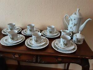 Frühlingshaftes Eschenbacher 10 teiliges Porzellan Kaffeegedeck