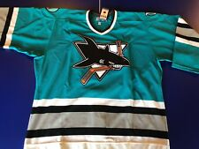 San Jose Sharks LICENSED VINTAGE AUTHENTIC AWAY #NHL CCM  #48-XLARGE #MAKEOFFER
