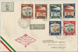 Posta aerea primo volo Roma - Mogadiscio 1934 Cirenaica
