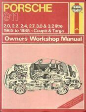 PORSCHE 911 2.0 2.2 2.4 2.7 3.0 3.2 COUPE TARGA CABRIO 1965 - 1985 REPAIR MANUAL