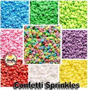 Cake Decoration Confetti Sprinkles Cupcake Edible Matt Sugar Sequines Funfetti