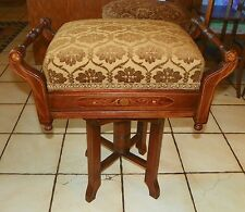 Mahogany Inlaid Hepplewhite Piano Stool / Organ Stool with lift seat (St132)