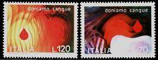 SELLOS TEMA MEDICINA. ITALIA 1977 1321/22 1v. DONANTES DE SANGRE