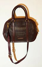 Burberry Leather Handbag. Cross Body Strap Basket Cut-out Style with Inner Pouch