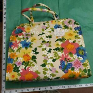 Margaret Smith Vintage 1960s Purse Handbag Tote Bag Flowers