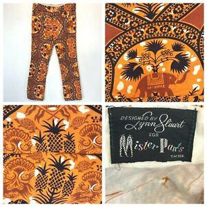 Lynn Stuart Mister Pants Geo size M Orange Elephant Print Pineapple Turtle P1