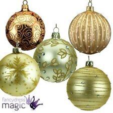 Décorations de sapin de Noël dorées Gisela Graham