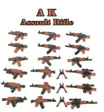 AK Assault Rifles 21pcs Military Weapons pack fits Lego minifigures uk seller