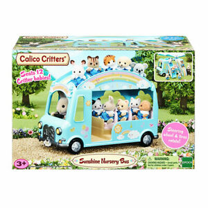 Calico Critters Sunshine Nursery Bus, Seats 12 Critter babies (not included)