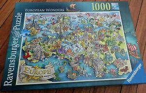 "RAVENSBURGER 1000 piece Jigsaw Puzzle ""European Wonders""  Complete"