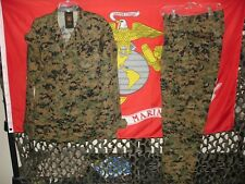 USMC MARSOC MARPAT Woodland Combat Uniform Shirt & Pants Medium Regular NEW