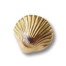 3 glänzend hell goldfarbene Kunststoff Ösen Knöpfe in Muschel Form (5551hg-18mm)