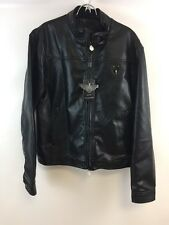 NWT NEW Men's Reportage R.G.A. XL Jacket/Coat Faux Black Leather, Italy Style