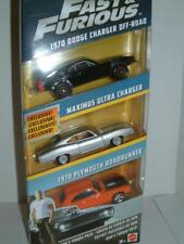 "1/64 MATTEL FAST & FURIOUS "" DOM`S CAR PACK"" DODGE,CHARGER,ROADRUNNER,4X4"