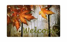 """Non-Slip Home Fashions Fall Welcome Vinyl Back Painting Doormat 30""""X18"""""""
