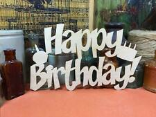 WOODEN HAPPY BIRTHDAY SIGN  Shapes 20cm (x1) laser cut wood crafts blank shape