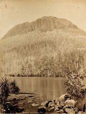 c1890, JW BEATTIE, Mt GOULD and Lake Marion, LARGE albumen photograph, TASMANIA!