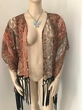 LADIES SIZE M/L VALLEY GIRL HIPPIE BOHO FESTIVAL FRINGED JACKET