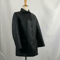 Hilary Radley Black Quilted Leather Jacket