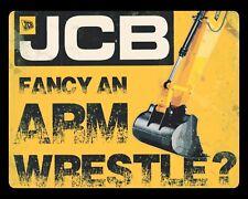 """10"""" x 8"""" JCB ARM WRESTLE CATERPILLAR BULLDOZER DIGGER METAL PLAQUE TIN SIGN 704"""