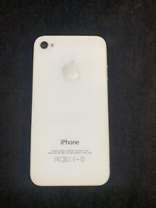 Apple iPhone 4 8GB White Untested FOR PARTS OR REPAIR ONLY Doesn't Hold Charge