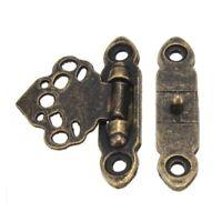 12x Antique Brass Decor Jewelry Trinket Wooden Box Hasp Clasps Latch Hook+S P7J3