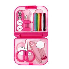 Sewing Kits Box Mini Needle Threads Buttons Scissor Thimble Portable Home Tools