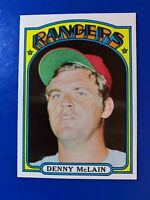 1972  DENNY McLAIN TOPPS BASEBALL  # 210 (The Shortstop)