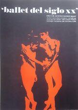 Cuban Art. Print of a poster by Consejo de Cultura. Ballet del Siglo XX, 1968.