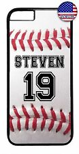 Baseball Case Cover iPhone X Xs Max XR 8 7 6 Plus 5 4 Personalized Number Name