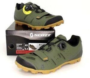 Scott MTB Elite Boa Mountain Bike Shoes Moss Green Men's Size 9.5 US / 43 EU