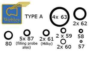 O Ring Seal Kit for Webley Airguns Air Rifles - Choose Model
