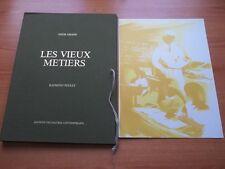 LES VIEUX METIERS 10 lithographies de Raymond Poulet représentant le mé